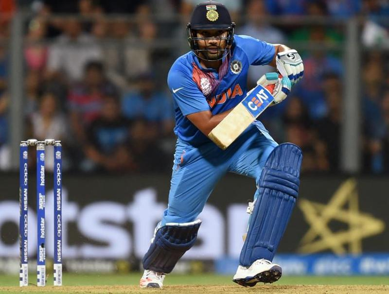 India's Rohit Sharma plays a shot during ICC Twenty20 2016 Cricket World Cup. (Kunal Patil/HT Photo)