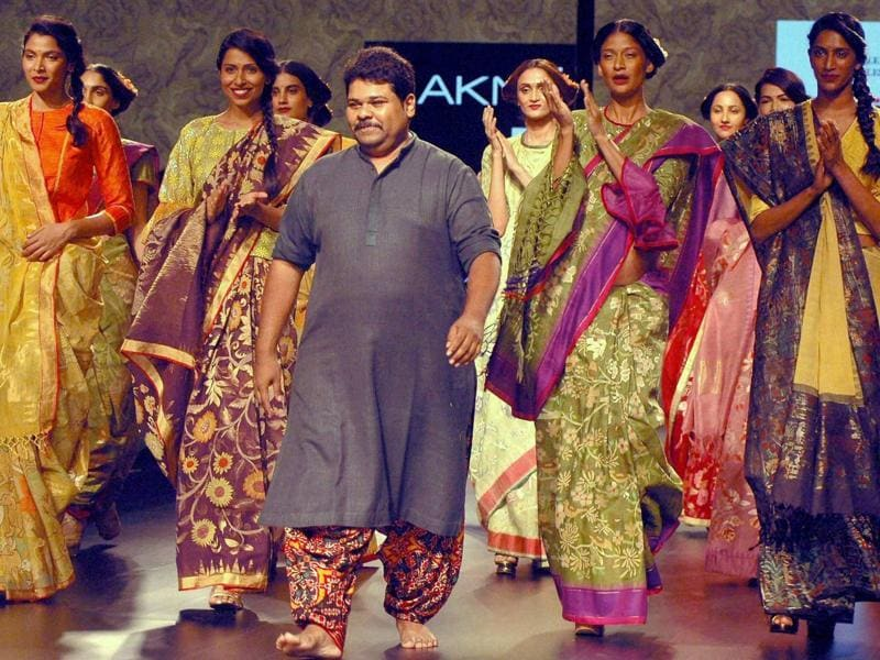 "Designer Gaurang's spring/summer 2016 collection, titled ""Calico,"" brought to life 11th century colours, motifs and weaves. (PTI)"