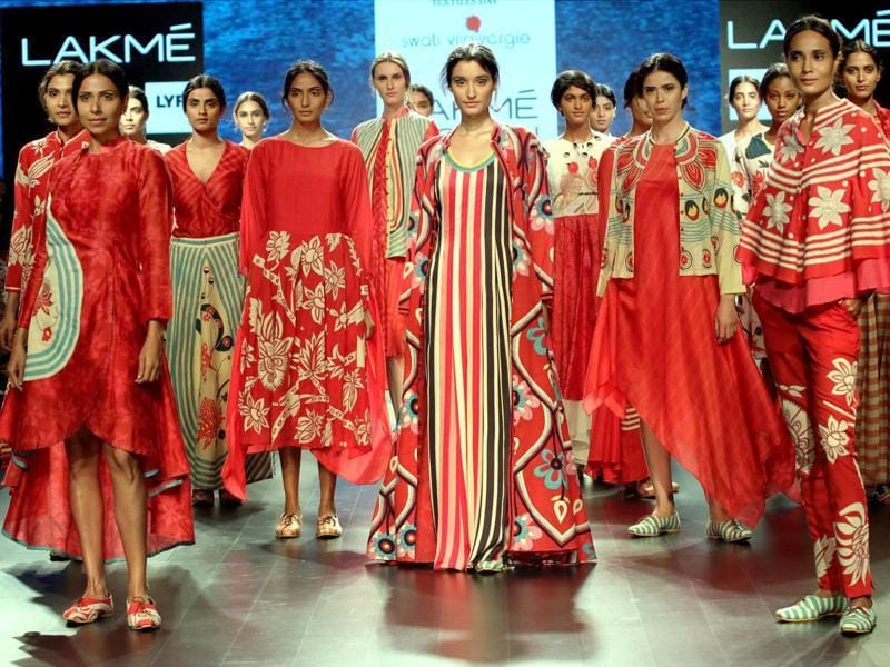 The Summer-Resort edition of Lakme Fashion Week is a five day affair being organised from  March 30 to April 3   in Mumbai. High on glamour, colour and creativity, we bring you the best of the fashion fiesta so far. (PTI)