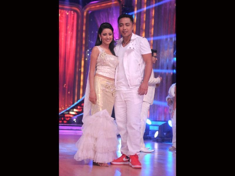 Pratyusha Banerjee also shook a leg with with choreographer Deepak in the 5th seson of the dance reality show Jhalak Dikhla Jaa. (HT File PhotO)