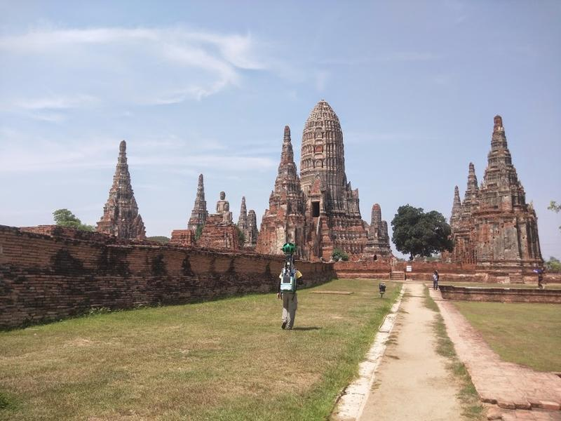 Highlights include the ruins of Wat Chaiwatthanaram Temple, a mystical Buddhist temple at Ayutthaya Historical Park. (Google/ Mashable)