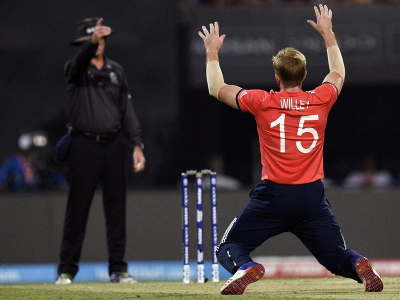 David Willey of England celebrating wicket in T20 World Cup final. (Ashok Nath Dey/HT Photo)