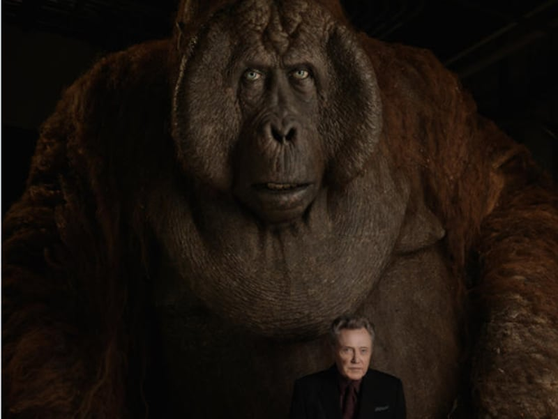 """King Louie is huge - 12 feet tall,"" says Christopher Walken, who voices the character. ""But he's as charming as he is intimidating when he wants to be."" (Disney)"