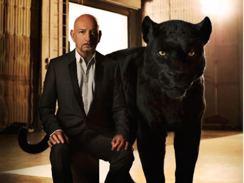 """Bagheera is Mowgli's adoptive parent,"" says Ben Kingsley, who lends his voice to Bagheera. ""His role in Mowgli's life is to educate, to protect and to guide. My Bagheera was military—he's probably a colonel. He is instantly recognizable by the way he talks, how he acts and what his ethical code is."" (Disney)"