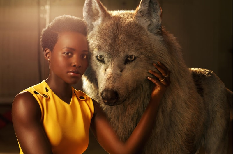 """She is the protector, the eternal mother,"" says Lupita Nyong'o who voices Mowgli's mother wolf Raksha. ""The word Raksha actually means protection in Hindi. I felt really connected to that, wanting to protect a son that isn't originally hers but one she's taken for her own."" (Disney)"