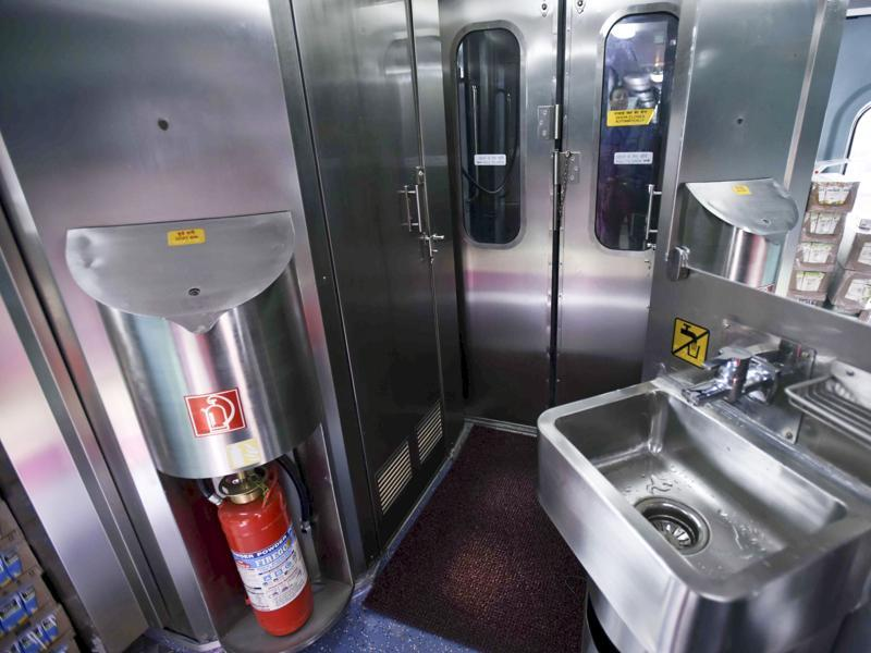 'Sparkling clean': The Indian Railways seems to have taken note of the most important complaint , that of cleanliness, with new designer interiors and new bio-toilets. (Arun Sharma / HT Photo)