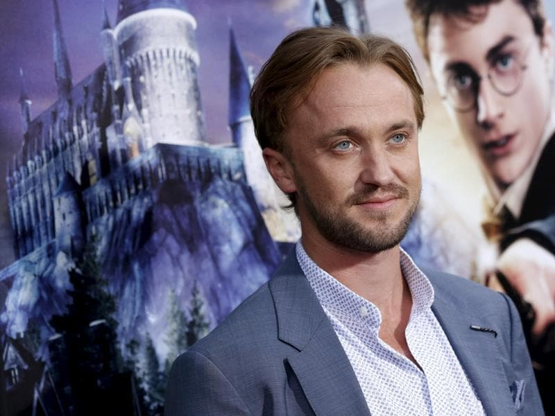 Actor Tom Felton, who played Draco Malfoy in the Harry Potter movies, poses for a special preview opening of The Wizarding World of Harry Potter attraction at Universal Studios Hollywood in Universal City, California. (REUTERS)