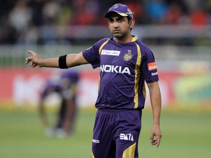Gautam Gambhir will be leading the charge for two time IPL champions Kolkata Knight Riders. (AFP Photo)