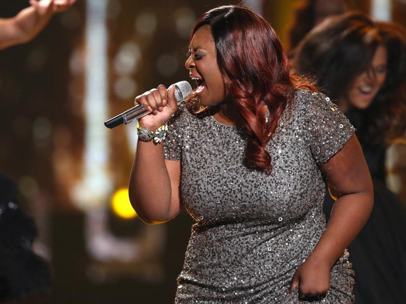 American R&B singer and actor Candice Glover performs at the farewell season finale. (AP)
