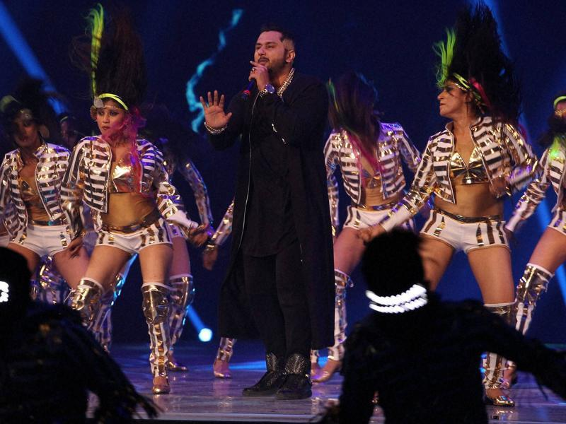 Star rapper Yo Yo Honey Singh entertained the audience by singing the choicest from the collection of his controversial songs. (PTI)