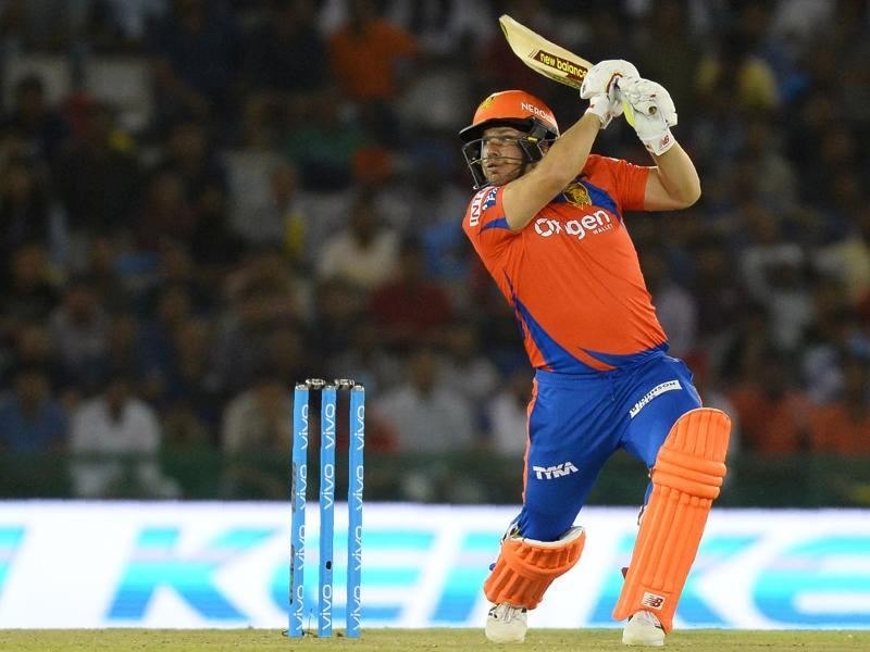 Gujarat Lions Aaron Finch plays a shot during the 2016 Indian Premier League (IPL). (AFP Photo)