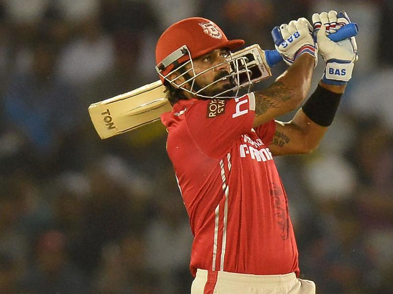 Kings XI Punjab opener Murali Vijay plays a shot. (AFP Photo)