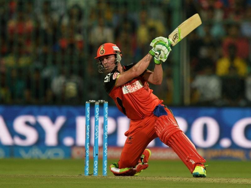 in his 42-ball 82, De Villiers hit seven fours and six sixes. (AFP)