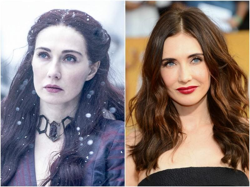 Carice van Houten, who plays the Red Priestess, Melisandre on the show, is 'brown of hair' in reality and not the fierce redhead as she is portrayed on the show.