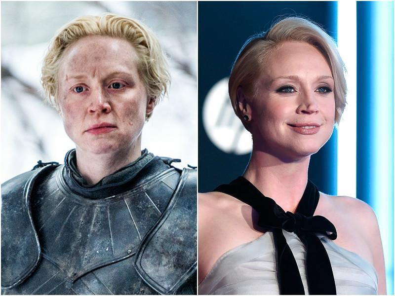 Gwendoline Christie may be a very strong lady but her choice of style is very feminine and pretty. A perfect medley. She plays the fearsome warrior, Brienne on the show. (HBO/AP)