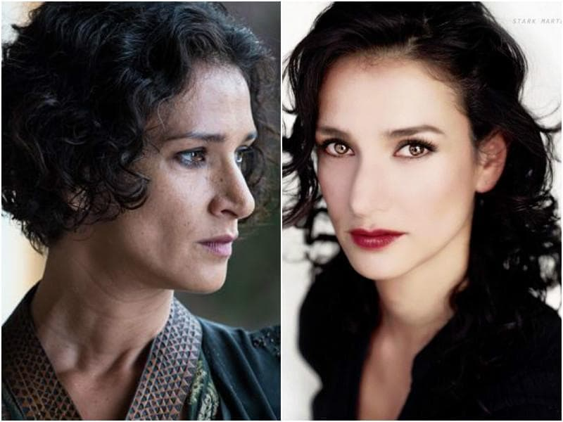 Indira Varma, who plays the hateful Ellaria Sand on the show, looks just as classy in real life except not so threatening. (HBO/Instagram)