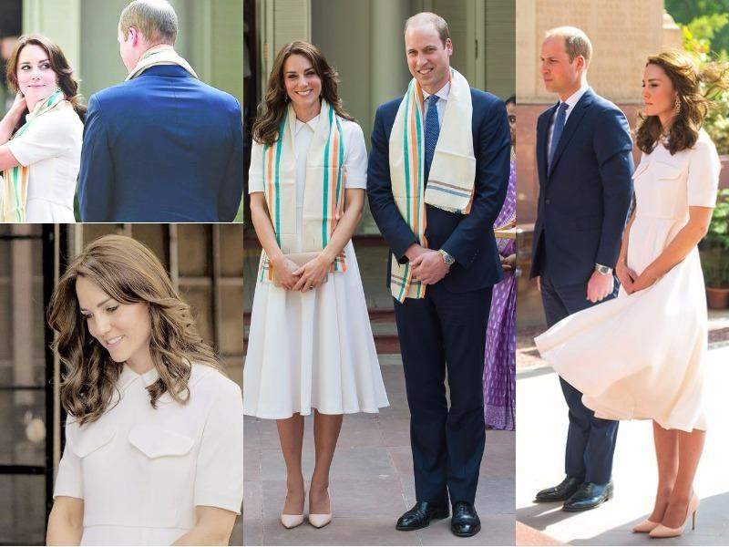 Outfit 4: Kate wore Emilia Wickstead to say goodbye to Mumbai - and hello to Delhi. The Duchess is rarely afraid to wear white and this one with its Peter Pan collar and double pockets was an elegant addition to her collection. (Instagram and Twitter)