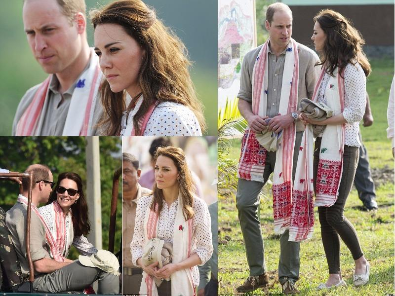 Outfit 9: The Duchess of Cambridge wore one of her favourite high street brands, as she and the Duke went for a tour around the Kaziranga National Park in Assam on April 13. A very relaxed looking Kate wore khaki mid-rise biker trousers and a cotton polka dot shirt. (Instagram and Twitter)