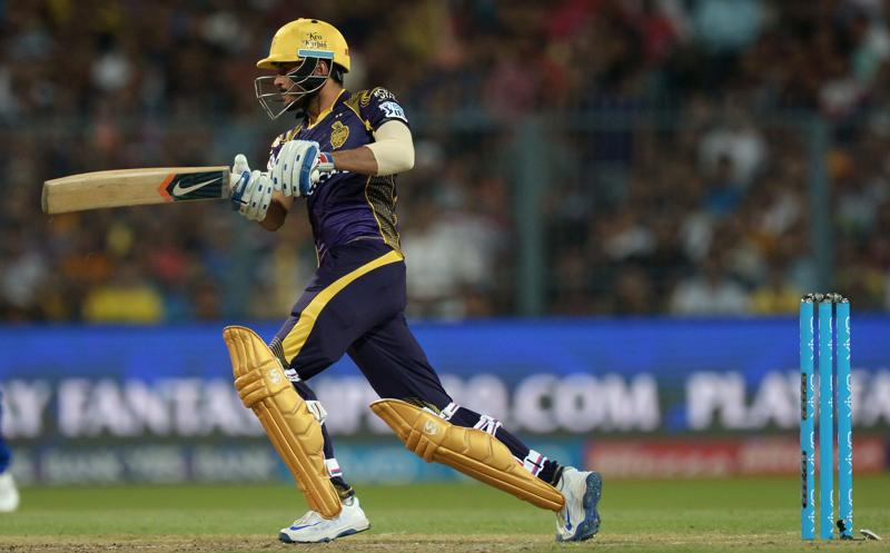 Kolkata Knight Riders cricketer Manish Pandey plays a shot during the 2016 Indian Premier League (IPL) Twenty20 cricket match between Kolkata Knight Riders and Mumbai Indians at the Eden Gardens Cricket Stadium in Kolkata on April 13, 2016. ---- IMAGE RESTRICTED TO EDITORIAL USE - STRICTLY NO COMMERCIAL USE----- / AFP PHOTO / Dibyangshu SARKAR / ---- IMAGE RESTRICTED TO EDITORIAL USE - STRICTLY NO COMMERCIAL USE----- (AFP)