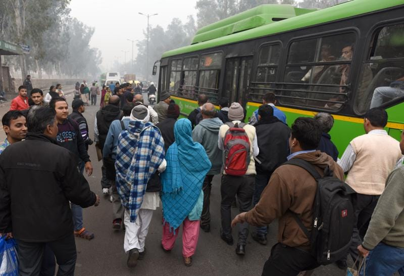 Last time, the scheme put a lot of pressure on public transport, as stranded commuters made a beeline for buses and the metro. This time, Delhi Metro has planned for the surge in commuters, increasing the number of runs, deploying more staff at counters and additional feeder buses.  (Sushil Kumar/HT Photo)