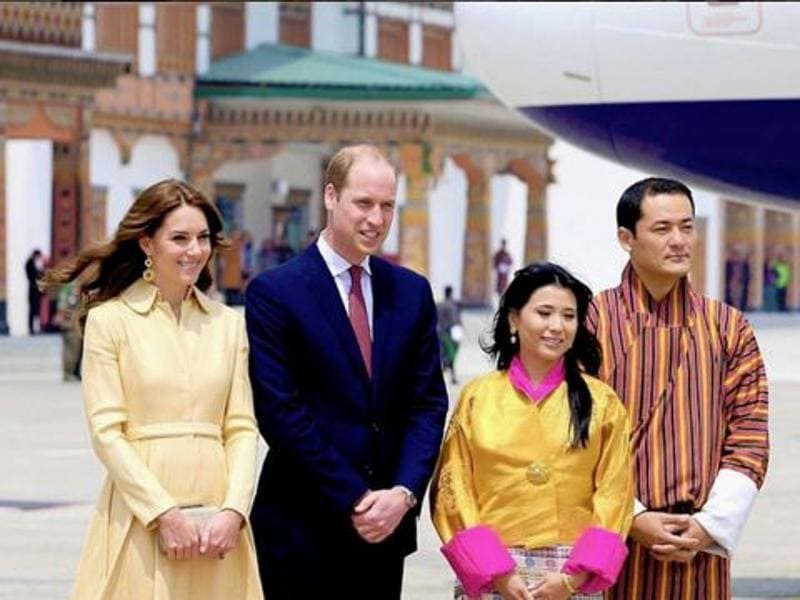 This is what she wore when she arrived in Bhutan. (Instagram)