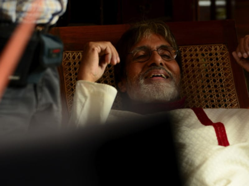 Amitabh Bachchan was shooting in the iconic Essel Studio. (Big B's blog)