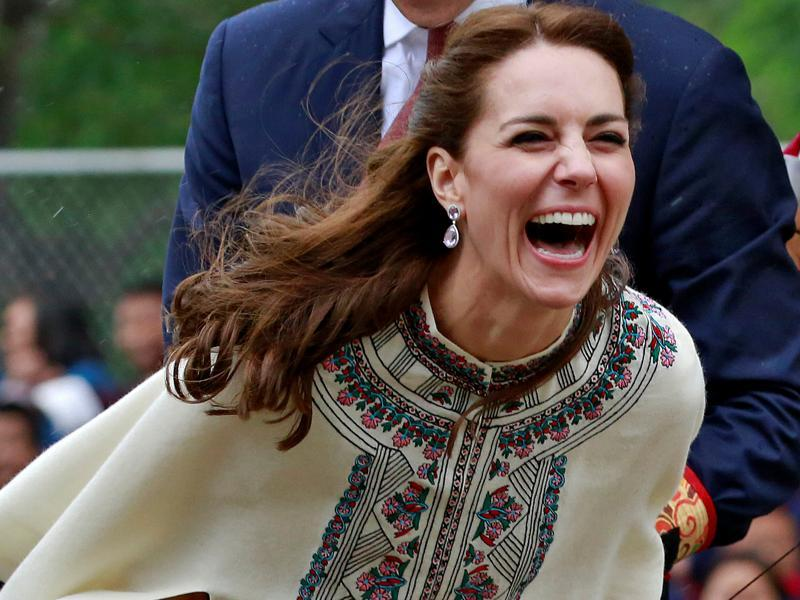 Britain's Catherine, Duchess of Cambridge, Kate Middleton was just so stunning on her India tour and she still is on her two-day visit to Thimphu, Bhutan. (REUTERS)