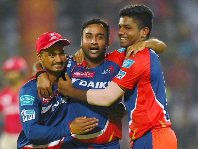 Amit Mishra triggered Kings XI Punjab's batting collapse with four wickets for 11 in his 100th IPL game. (PTI)