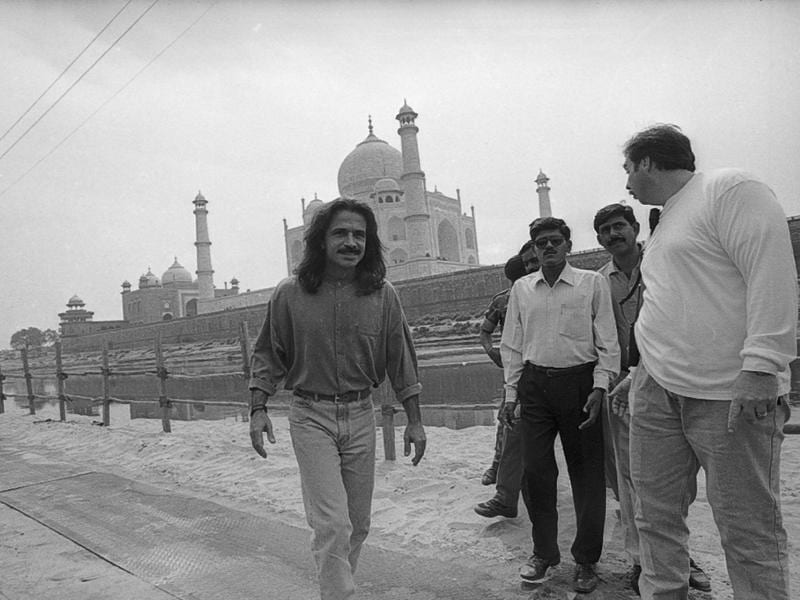 Musician Yanni performed at the Taj Mahal in 1997. (HT ARCHIVES)