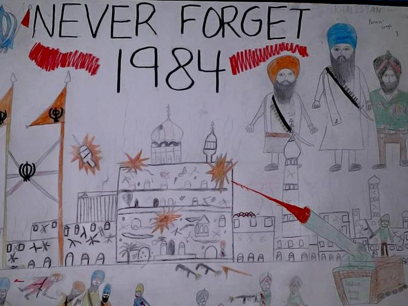 A drawing from a competition for children held on a gurdwara's premises in the Greater Toronto Area (HT Photo)