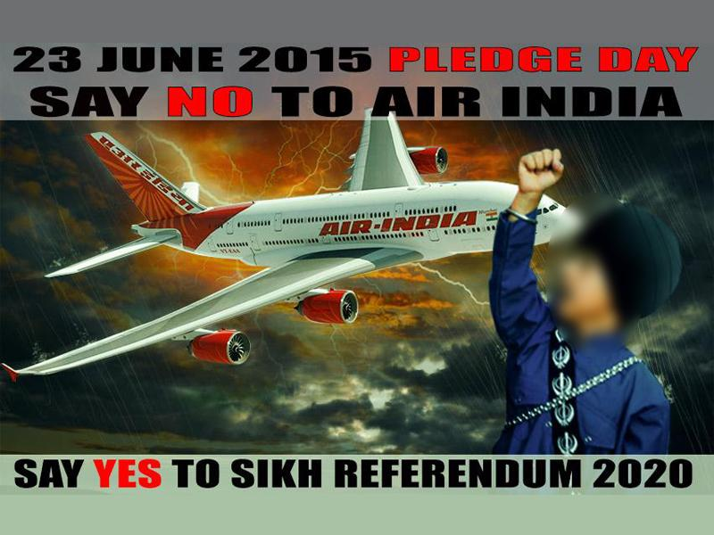 A poster calling for a boycott of Air India (HT Photo)
