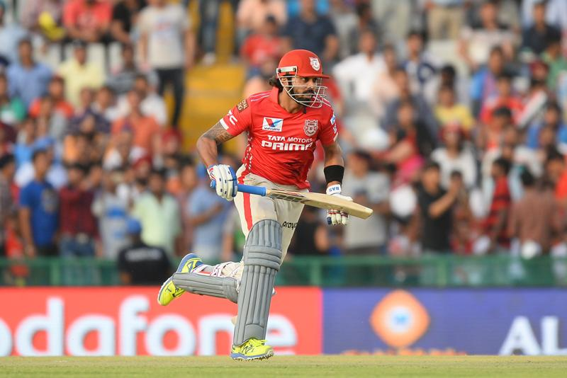 Kings XI Punjab Murali Vijay runs between the wickets during the IPL match against Rising Pune Supergiants at The Punjab Cricket Association Stadium in Mohali on April 17, 2016. Vijay's 49-ball 53 set the foundation for Punjab's first win. (AFP)
