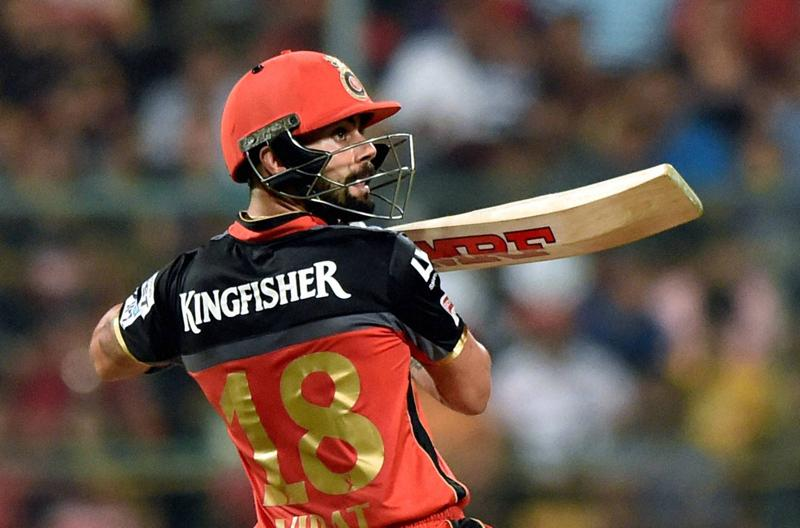 Bengaluru : Virat Kohli of Royal Challengers Bangalore plays a shot against Delhi Daredevils during Indian Premier League (IPL) 2016, T20 match in Bengaluru on Sunday. PTI Photo by Shailendra Bhojak(PTI4_17_2016_000213B) (PTI)