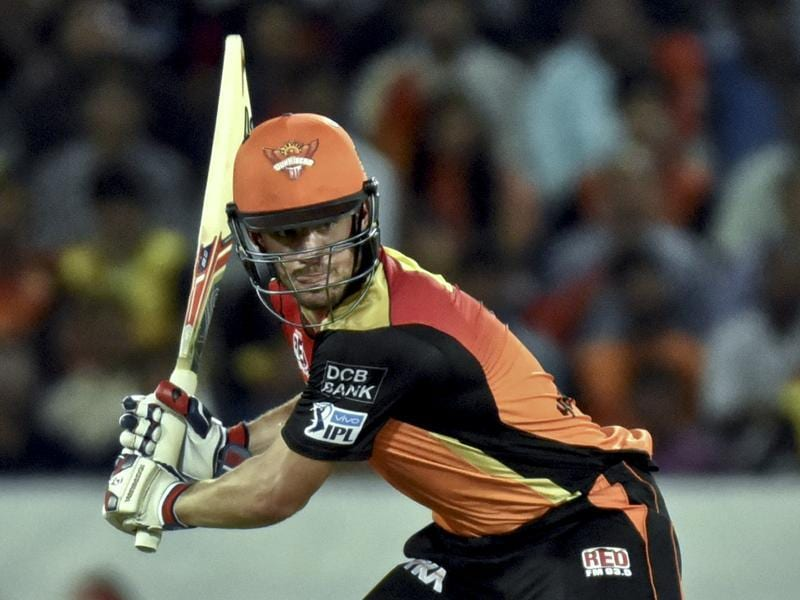 Moises Henriques of Sunrisers Hyderabad in action against Mumbai Indians. (Mohd Zakir/HT Photo)