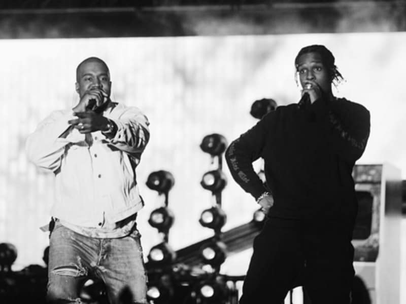 Kanye West and A$AP Rocky perform at the Coachella music festival in California. (Instagram)