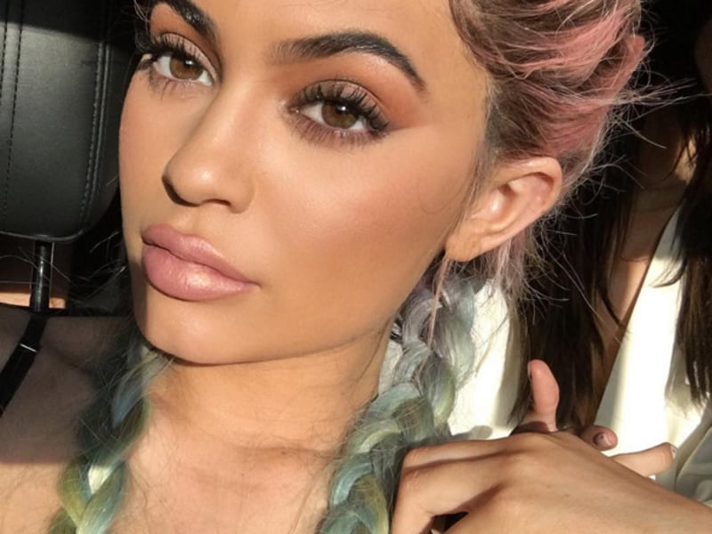 Kylie Jenner shared a picture of her appropriately colourful hairdo. (Instagram)