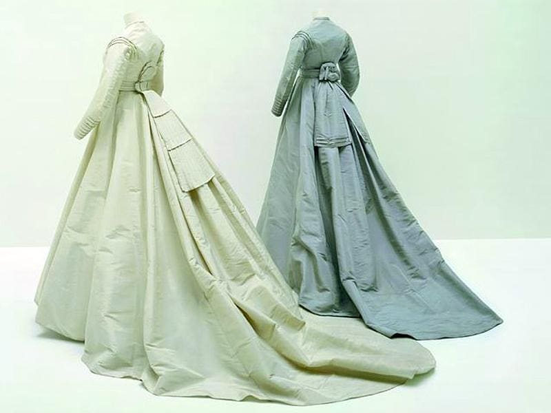 Dresses worn by Madame Gachet for her marriage to Doctor Gachet, 1868. (AFP)