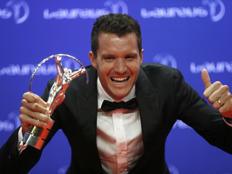 German triathlete Jan Frodeno won the Laureus World Action Sportsperson of the Year award. (REUTERS)