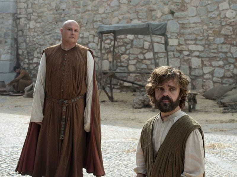 These are a few pics released earlier by Game of Thrones. It will fall on Tyrion (Peter Dinklage) and Varys (Conleth Hill) to keep Mereen under control with Daenerys gone missing. (HBO)