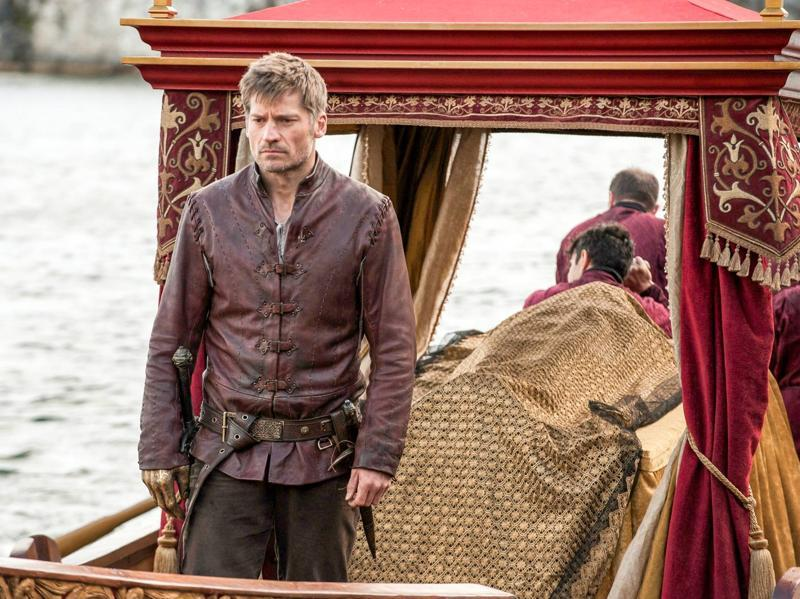 Jaime Lannister (Nikolaj Coster-Waldau) taking the dead body of his daughter/niece to King's Landing. (HBO)