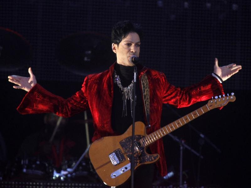 Prince performs at Budapest's Sziget music festival on an island in the Danube River, August 9, 2011.  (REUTERS)