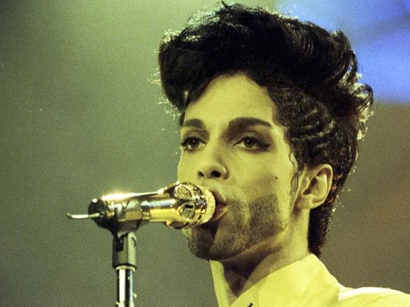 Prince performs during his Diamonds and Pearls Tour at the Earl's Court Arena in London, Britain, June 15, 1992.  (REUTERS)