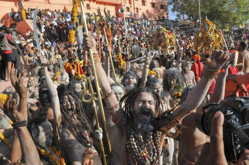 Over five crore people are expected to visit the city of Ujjain for the month-long Simhastha Kumbh, which is held after every 12 years. Overnight, the city has turned into a well-run fortress, as authorities make arrangements for the crowds.  (Shankar Mourya/ Hindustan Times)
