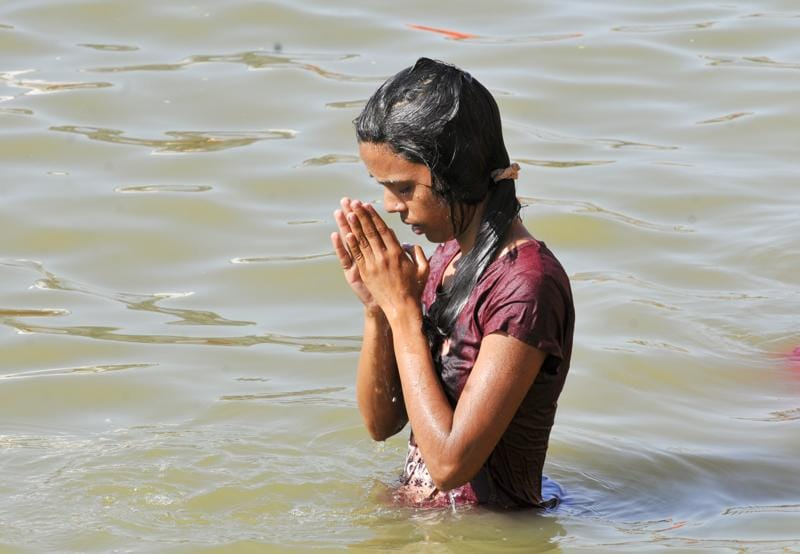 According to Hindu mythology, Lord Vishnu was transporting Amrit, the drink of immortality, in a kumbh or pot, when a few drops spilled at four places. These places – Haridwar, Allahabad, Nashik and Ujjain, are the sites for present-day Kumbh melas.  (Shankar Mourya/ Hindustan Times)