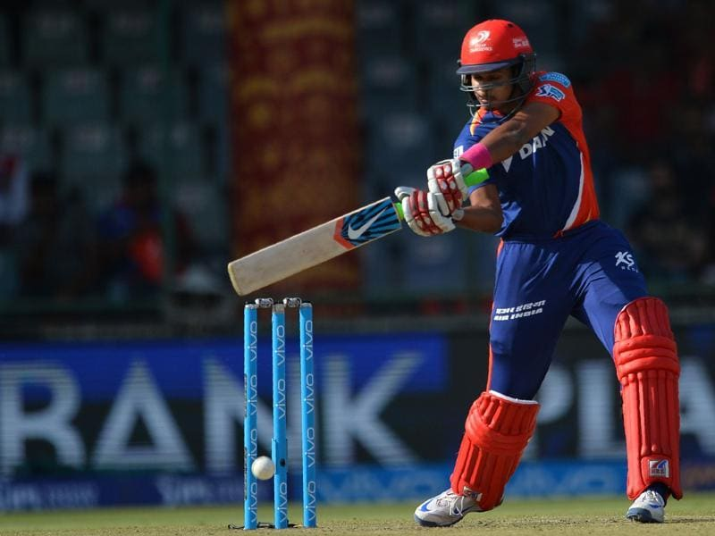 Delhi Daredevils Shreyas Iyer plays a shot during the 2016 Indian Premier League (IPL). (AFP Photo)