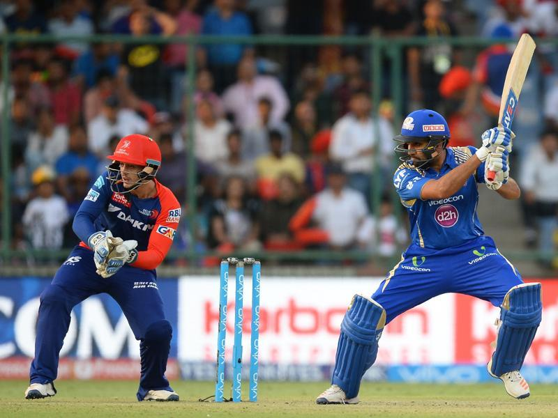 Mumbai Indians team captain Rohit Sharma plays a shot during the 2016 Indian Premier League. (AFP Photo)
