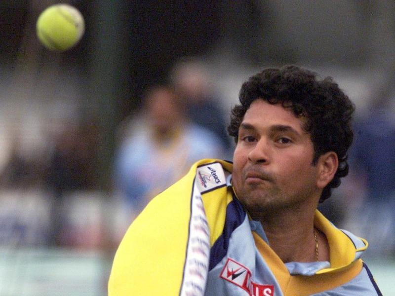 Sachin Tendulkar during a practice session 03 June 1999 at the Oval in London, on the eve of their match against Australia. (AFP)