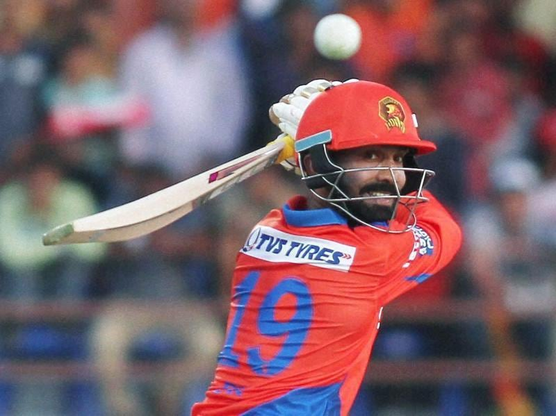 Gujarat Lions Player Dinesh Karthik plays a shot during IPL 2016 match. (PTI Photo)