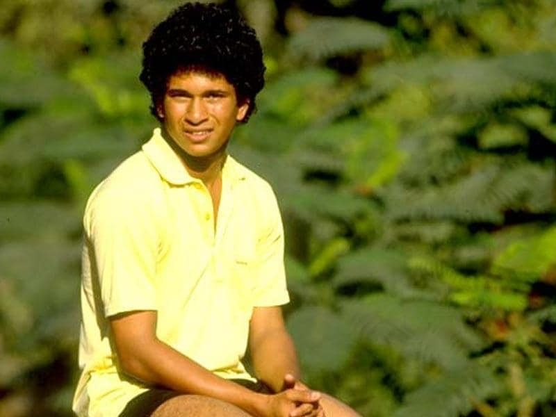 Sachin Tendulkar made his debut for India at the age of 16 years and 205 days. (Getty Images)