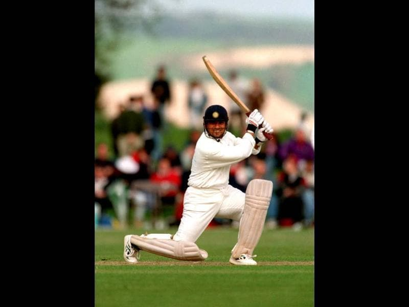 Throughout his career, Sachin has been known for the beauty and the fluidity of the shots he played. Adrian Murrell/Allsport. Getty Images.